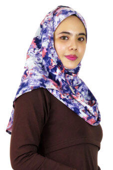 Harga Aqeela Muslimah Wear Instant Shawl Abstract Blue