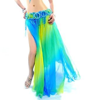 Harga NEW Belly Dance Dancing skirt 2 layers with slits Skirt Dress M style 2
