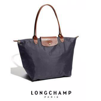 Harga AUTHENTIC LONGCHAMP LE PLIAGE TOTE 1899089 LARGE/LONG HANDLE (GRAPHITE)