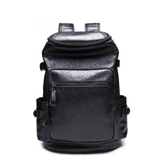 Harga 2016 Hot Sales New Men Academy Rucksack Bag Korean School Back Pack Leather Travel Backpack Bag