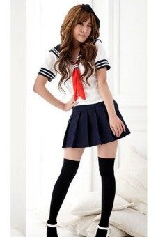 Harga Women's Cosplay Costume Fancy Dress Uniform Sailor Suit