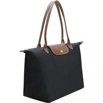Harga Longchamp Le Pliage Long Handle Medium (Black)