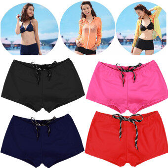 Harga (Swimwear)New Women Shorts Plain Bikini Swim Swimwear Lady Boy Style Short Brief Bottoms M Black