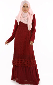 Harga JF Fashion Maya Kurung Dress E2139 (Maroon)