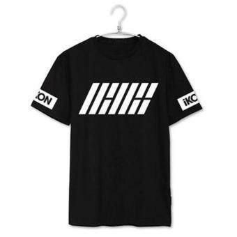 Harga ALIPOP KPOP IKON Welcome Back Album Shirts K-POP Casual Cotton Clothes Tshirt T Shirt Short Sleeve Tops T-shirt DX304 (Black)