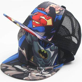 Harga 2017 New Kids Baseball Caps Fashion Superman Batman Children Snapback Caps Gorras Planas Boys Hip Hop Hat Mesh Summer Hats 2318