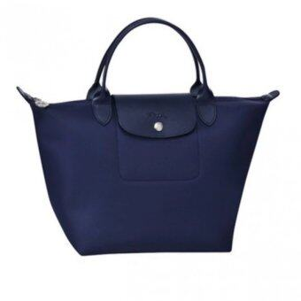 Harga Longchamp Planetes Short Handle Small LC014A (Navy)