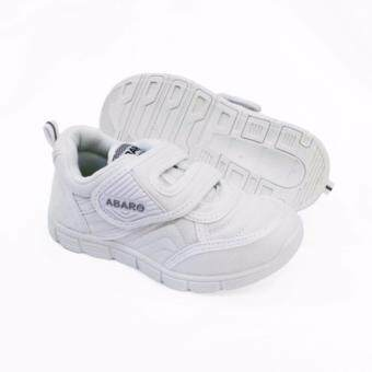 Harga Abaro School Shoes [NEW] 2683 - White Canvas + PVC Primary School Unisex