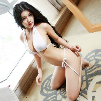 Harga MeiNiang Brand sexy three type bandage unlimited transparent Swimsuit Size suit mooning lingerie 7101