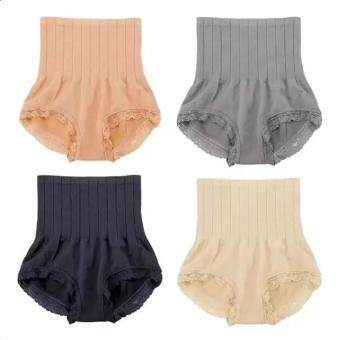 Harga (Set of 4)Fanco Japan Seamless Hip Abdomen Fat Burning Waist Slim Panty Girdle (Black,Grey,Beige,Nude)