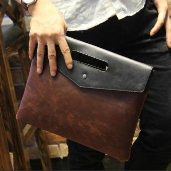 Harga Tidog New men's handbags Crazy Horse men clutch trend hand bag