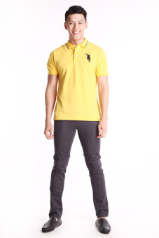 Harga BGM POLO Men Polo Shirt (Yellow)