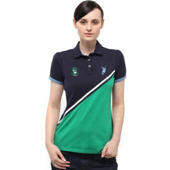 Harga Polo Haus - Polo Tee With Denim Collar & Cuff (Blue/Green)