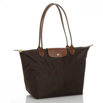 Harga Longchamp Le Pliage Long Handle Medium (Brown)