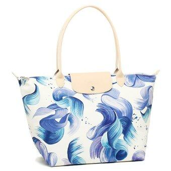 Harga Longchamp Le Pliage Large Tote (Blue Flower)