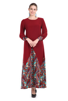 Harga Aqeela Muslimah Wear Triangle Dress Maroon