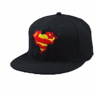 Harga Hanyu Men Women Superman Batman Baseball Cap Hats Adjustable Casual Outdoor Hip Hop Caps Snapback Hat Running Man (Black)