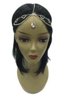 Harga Yona Fashion Fancy Heart Shape Stone Head Band (Silver)