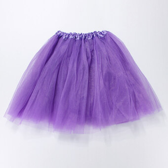 Harga Girl Adult Women Elastic Tutu Ballet Skirt Stretchy Bridesmaid Party Ball Tulle Dress Darl Purple