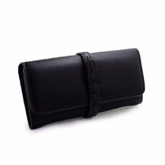 Harga Polly Molly Trendy 3fold Premium PU Leather Wallet 4226_Black