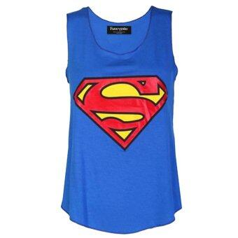 Harga Fancyqube Batman/superman Superhero Sports Vest Woman Fashion Sleeveless Shirt Blue