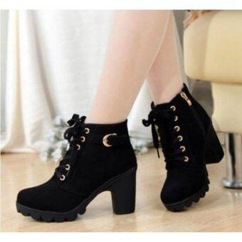 Harga [PRE-ORDER] Martin Boots Europe Ankle Women Shoes Black
