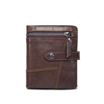 Harga Genuine Leather Men Wallets Leather Man Short Wallet Vintage