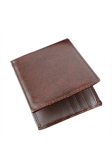 Harga Toprank Pu Leather Wallet Men Purse Synthetic Wallets Money Pockets Cit/Id Cards Holder ( Brown )