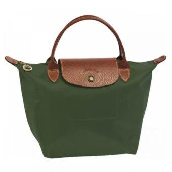Harga Longchamp Le Pliage Small Short Handle Bag-Dark Green