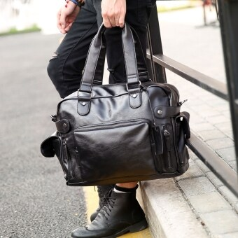 Harga Tidog The new Bag Handbag Shoulder Bag Messenger Bag men leisure trend of Korean travel bag