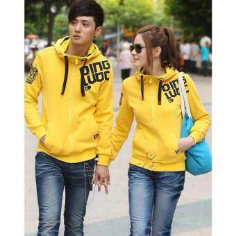Harga LuvClo (M~4XL) Korean Unisex Casual Style Hooded Jacket (Yellow)