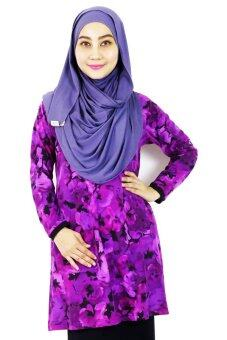 Harga Aqeela Muslimah Wear Plain Top Purple