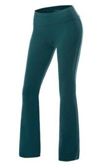 Harga Bigood Womens Plain Palazzo Wide Leg Lady Trousers Sport Yoga Pants Deep green