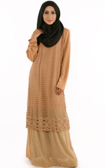 Harga JF Fashion Maya Kurung Dress E2139 (Brown)