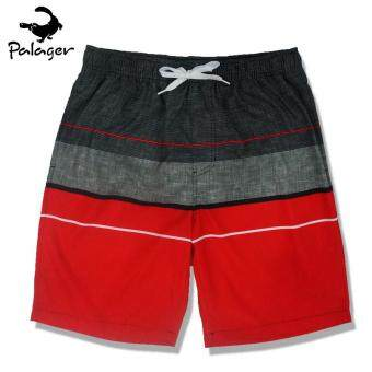 Harga Palager Retro 50s Board Shorts Men's Quick-drying Men's Swimsuit Shorts Beach Summer Wear Shorts M-3xl - Red
