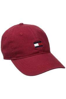 Harga Tommy Hilfiger Mens Ardin Dad Baseball Cap, Core Red, One Size