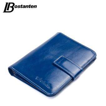 Harga BOSTANTEN Genuine Leather Women Wallets High Quality Wallet Hasp Credit Card Holder Wallet Vintage Ladies Oil Wax Leather purse