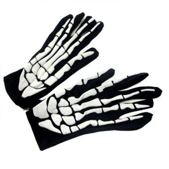 Harga The skeleton gloves Halloween party supplies bone cloth gloves skeleton clothing accessories