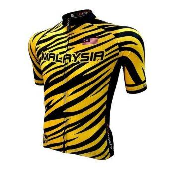 Harga I-Sports Wear Malaysia Tiger Short Sleeve Sports Cycling Bike Unisex Jersey