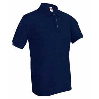 Harga myCOH Kings Plain Polo Tee Shirt (Unisex) - Navy Blue