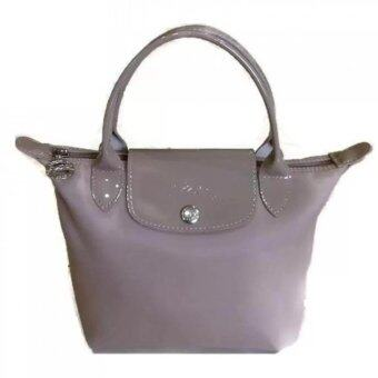 Harga Longchamp Planetes Short Handle Small LC014A (Light Grey)