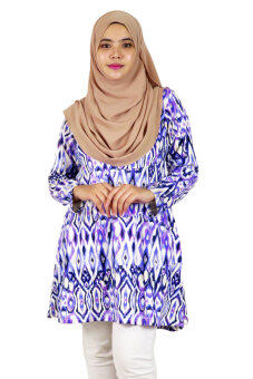 Harga Aqeela Muslimah Wear Layer Top Ikat Purple
