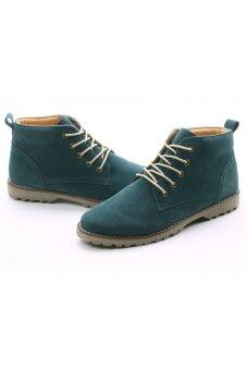 Harga SRZ New Design Leather Male Martin Boots (Green)