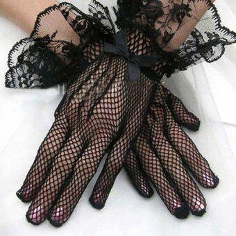 Harga Bride Lace Gloves black
