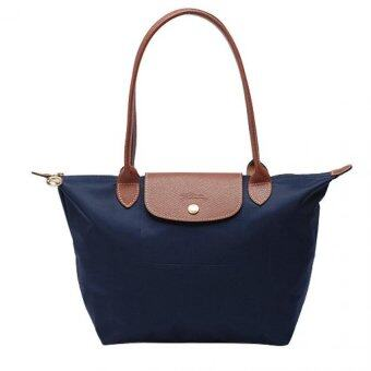 Harga Longchamp Le Pliage Long Handle Medium (Navy)