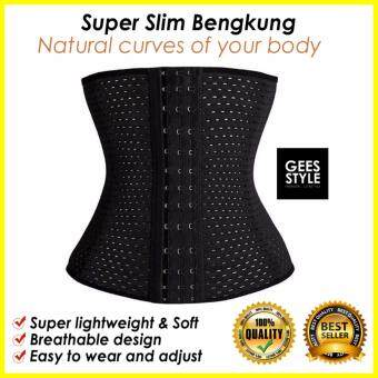 Harga [LOCAL SHIP] Waist Trainer/ body shaper/slimming belt /Bengkung/ Slimming Corset/ Korset (Black)*Local ship