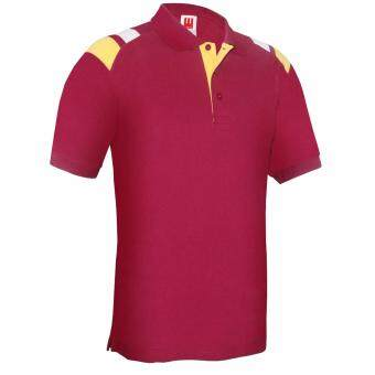 Harga Kings Polo Tee - Maroon / Yellow / White (Unisex)