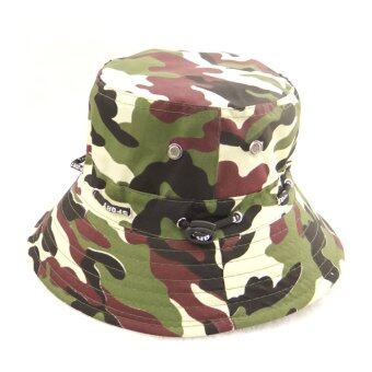 Harga ELENXS Summer Cotton Safari Hiking Bucket Hat fisherman Sun crushable Cap Camouflage Jungle - Intl