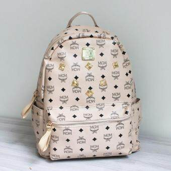 Harga Octopuzz Korean MCM Backpack (Beige)