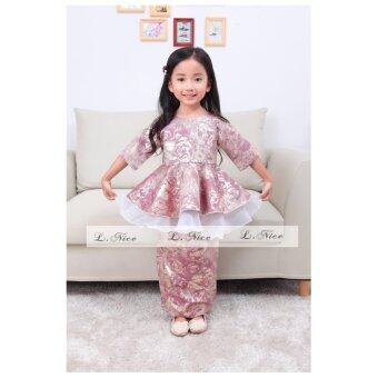 Harga Kids Baju Kurung Moden / Peplum / Baju Raya for Ages 1 Yrs - 12 Yrs (Purple)